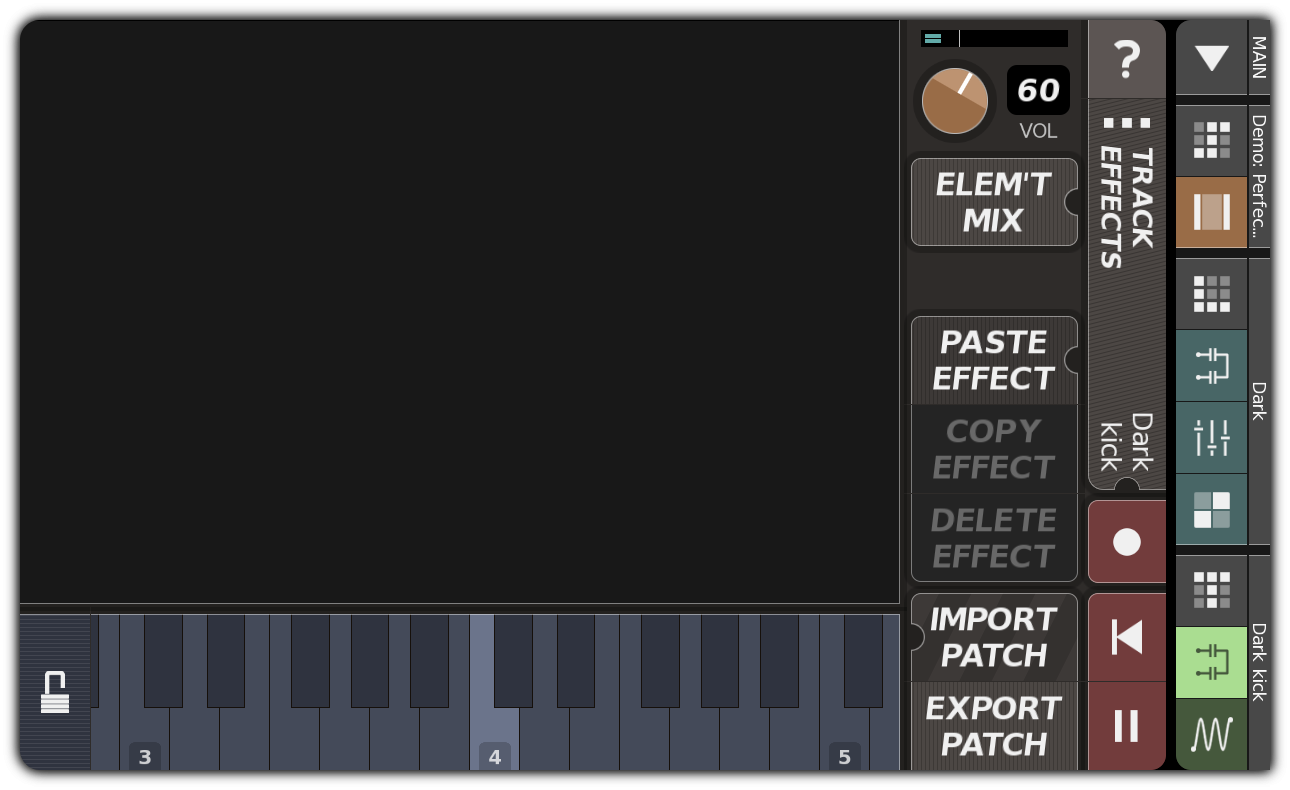TRACK EFFECTS dialog